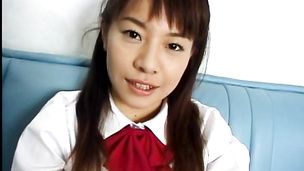 Amateur Asian schoolgirl nailed from behind and blasted with cum