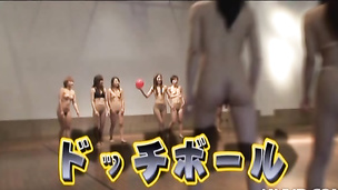 Naked Japanese chick gets pounded hard after a ball game