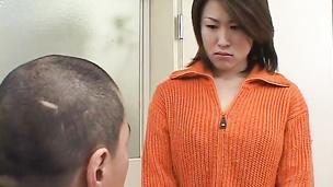 Kokoro Miyauchi MMF action double blowjob creampie