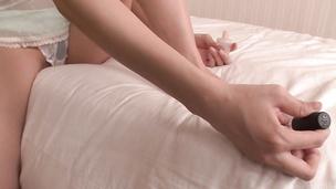 Busty Yuna Satsuki in lingerie gives an asian blowjob