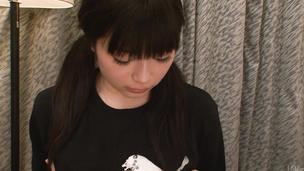 An asian huge dildo has Hina Maeda cumming hard