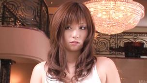 Mami Yuuki in hardcore Asian blowjob threesome show