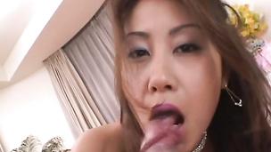Cock sucking cum dripping facial Nana Nanaumi