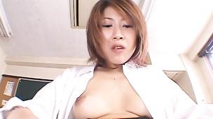 Pussy shaving and dick sucking Aya Sakurai