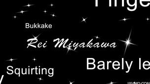 Gang banged and cum covered horny babe Rei Miyakawa