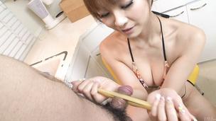 Misa Kikouden sucks dick in asian amateur porn