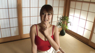 Sexy Hitomi Kitagawa enjoys Japanese creampie show