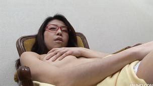 Mizuki Ogawa took care of her boyfriends stiff cock