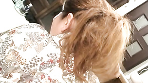 Gorgeous Asian milf folded cock sucking and drilled by cock