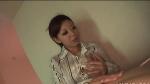 Ryu Narushima gives awesome blowjob with a tit fuck