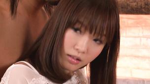Perky teen Momoka Rin fucked after a japanese blowjob