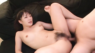Attractive Asian schoolgirl strips naked and gets fisted