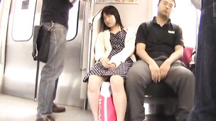 Innocent looking babe enjoys being manhandled in public