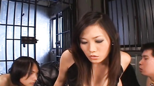 Adorable young Japan cutie receives monster cock in anal mode