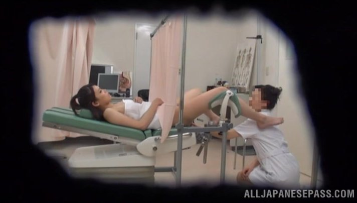 Big titted nurse sucks dick and gets hairy cunt pounded hard