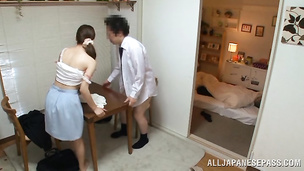 Marvelous japanese cutie drops clothes and touches cooter and fang