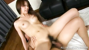 Striking beauty reaches a massive orgasm during the hot action