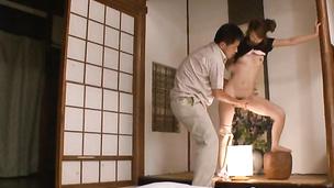 Lewd Yua Kisaki rubs her tits to seduce a pal