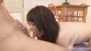 Lovable Homare Momono is thoroughly pounded by her horny stud