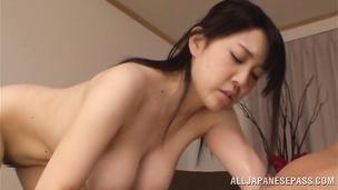 Pungent Nanami Horikita rides a fat lovestick like a boss