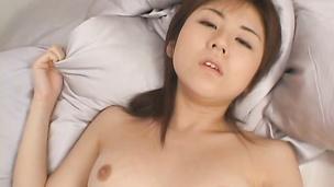 Racy eastern Akari Yaguchi lets a hunk grope her tits before fucking her