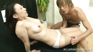 It is the very first boyfriend insatiable nipponese girl getting fucked