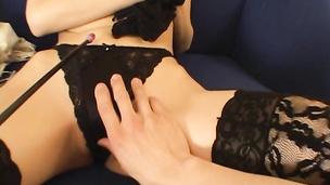 Cheerful nipponese girlfriend Noa receives a massive boner in her juicy cunt