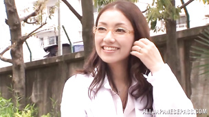 Lovely asian lady gets licked and fucked on camera