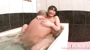 Lustful Kaede Horiuchi's tight gash is driving stud insane with pleasures