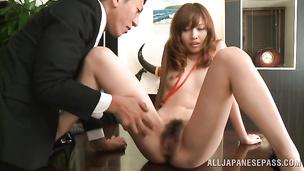Gorgeous nipponese floosy Miyuki Yokoyama loves to wrap her amazing tits around cocks