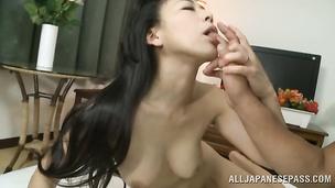 Sassy idol with wet cuchy reaches a massive orgasm