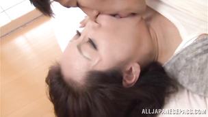 Delightful sweetie Neko Ayami gets her tasty cuchy thoroughly licked