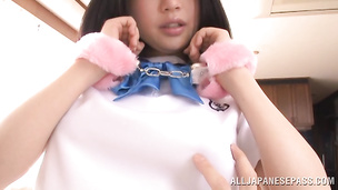 Pretty japanese maid Satomi Nomiya gets destroyed by handsome male