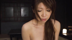 Curvaceous eastern Yuuka Minase is fucked hard like a whore she is