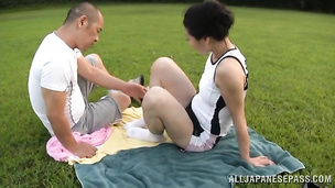 Fascinating japanese sweetie is in deep love with mate's huge d