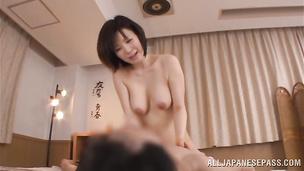 Admirable nipponese Nanako Mori seductively sucks a hard dong