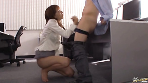 Filthy exotic woman Shiho enjoys sucking a big and strong dangler