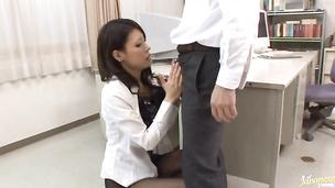 Beautiful Haruka Sanada seductress enjoys penetration in her pink twat