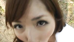 Playful nipponese girl Yuu Asakura getting her gash fucked hard