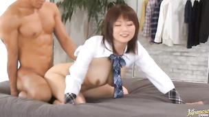 Marvelous Hana Nonoka asks her fucker to poke her cherry hard