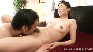 Astounding oriental darling is showing her pro oral skills