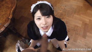 Mischievous darling Ai Uehara can handle that huge fat penis