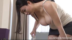 Spicy nipponese Nachi Kurosawa is fucking her muscular hunk all day