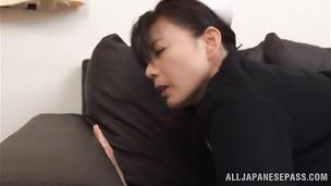 Pretty idol Eriko Miura gets fucked hard by her man