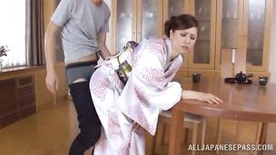 Slender Yuri Matsushima is really crazy about big thick slim jims