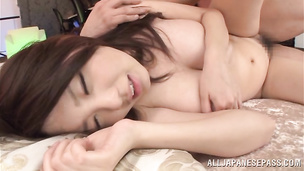 Honey Shion Utsunomiya gets down and gives steaming enticing blowjob