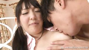 Salacious japanese Kurumi Tanigawa can't say no to a good fuck