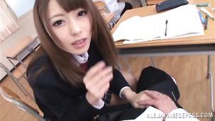 Appetizing idol Ayu Sakurai is taking a big schlong from behind