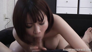Mouthwatering girlie Ryo Tsujimoto is ready to suck a phallus